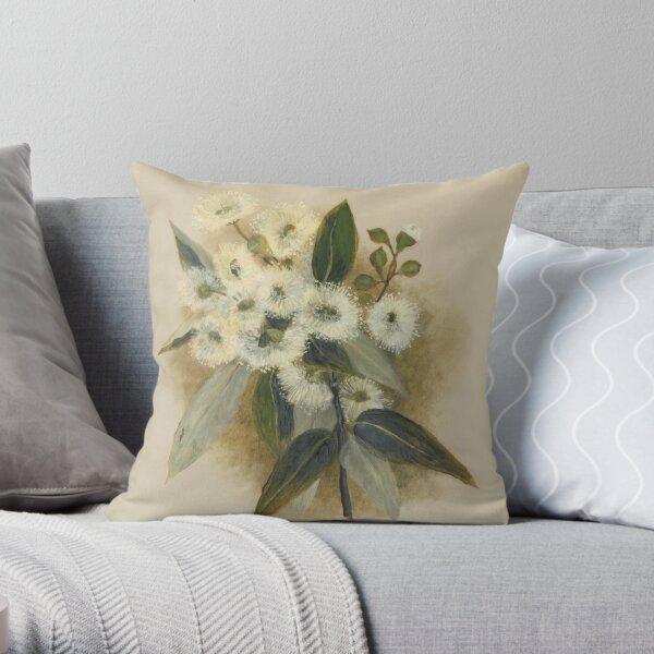 Western Australia wild flower Marri -  Eucalyptus calophylla State Library of Western Australia Throw Pillow
