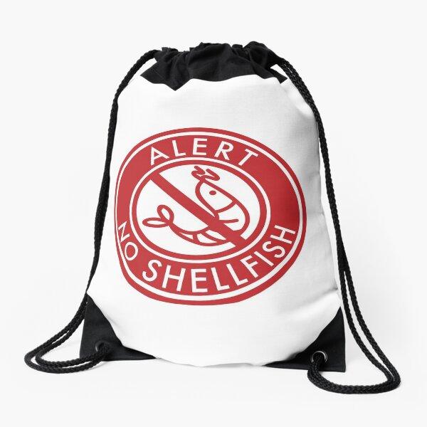 No Shellfish Drawstring Bag