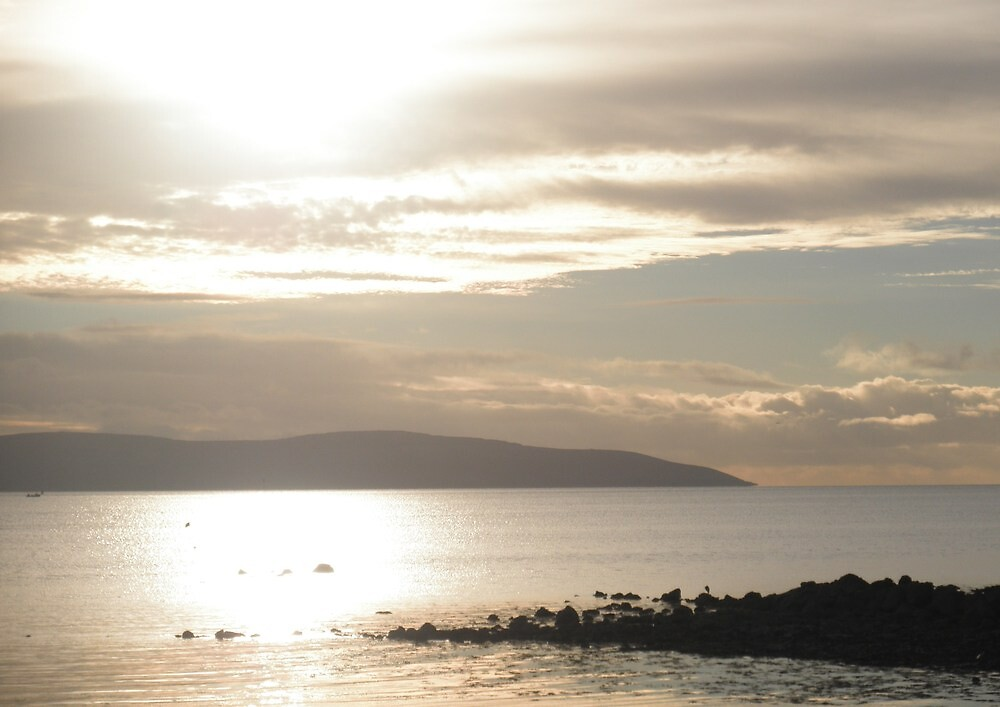 Co. Clare from Salthill Promenade by lindart48