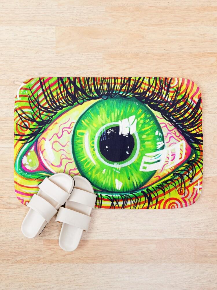 Alternate view of Neon Eye Bath Mat