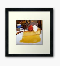 gluten free orange cake and syrup Framed Print
