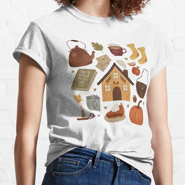 Ein Design, das an Herbsttage in einem gemütlichen Ferienhaus erinnert Classic T-Shirt