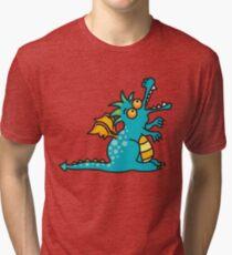 Teal Magic Dragon Tri-blend T-Shirt