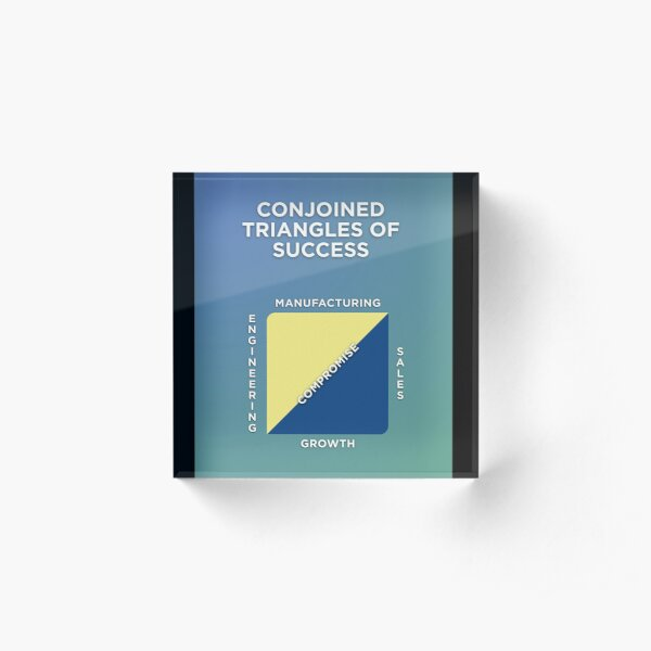 Conjoined Triangles of Success Acrylic Block