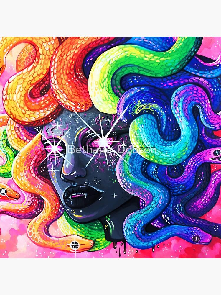 Rainbow Medusa by cloudsover31