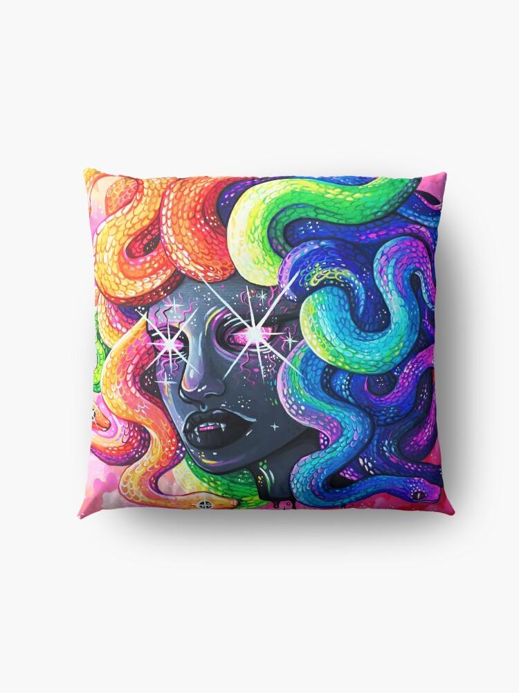 Alternate view of Rainbow Medusa Floor Pillow
