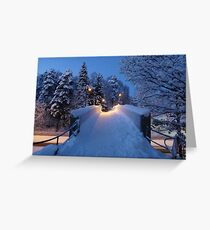 Winter In Suburbia II Greeting Card