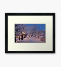 Winter In Suburbia I Framed Print