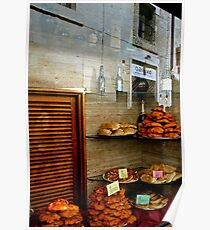Reflection in the Bakery Window - Lecce Italy Poster