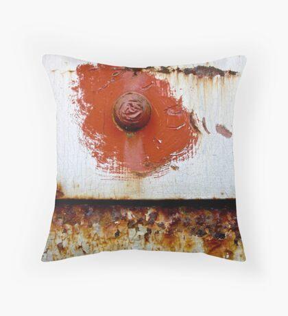 Rust Bloom Throw Pillow