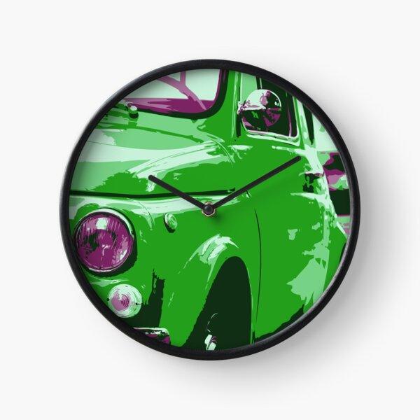 Classic FIAT 500 Abarth - Cute Little Italian Retro City Car Clock