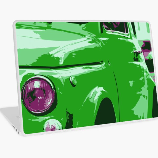 Classic FIAT 500 Abarth - Cute Little Italian Retro City Car Laptop Skin