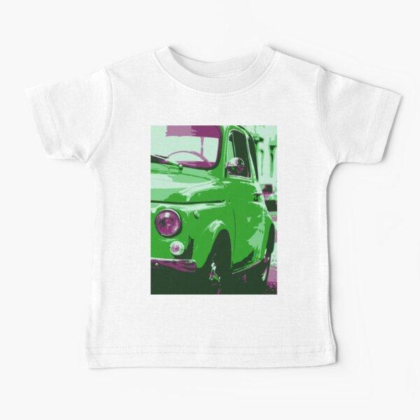 Classic FIAT 500 Abarth - Cute Little Italian Retro City Car Baby T-Shirt