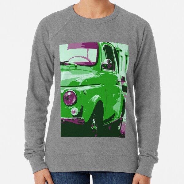 Classic FIAT 500 Abarth - Cute Little Italian Retro City Car Lightweight Sweatshirt