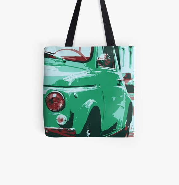 Classic FIAT 500 Abarth - Cute Little Italian Retro City Car All Over Print Tote Bag