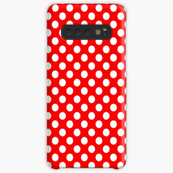 White on Red Polka Dots Samsung Galaxy Snap Case