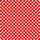 White on Red Polka Dots by Rupert Russell
