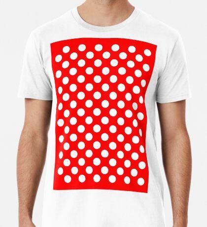 White on Red Polka Dots Premium T-Shirt