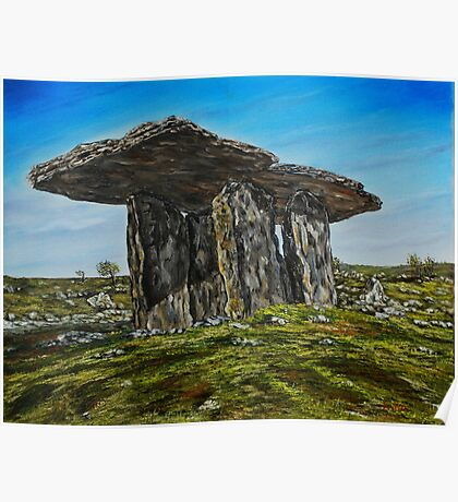 Poulnabrone Dolmen, The Burren, County Clare - oil painting Poster