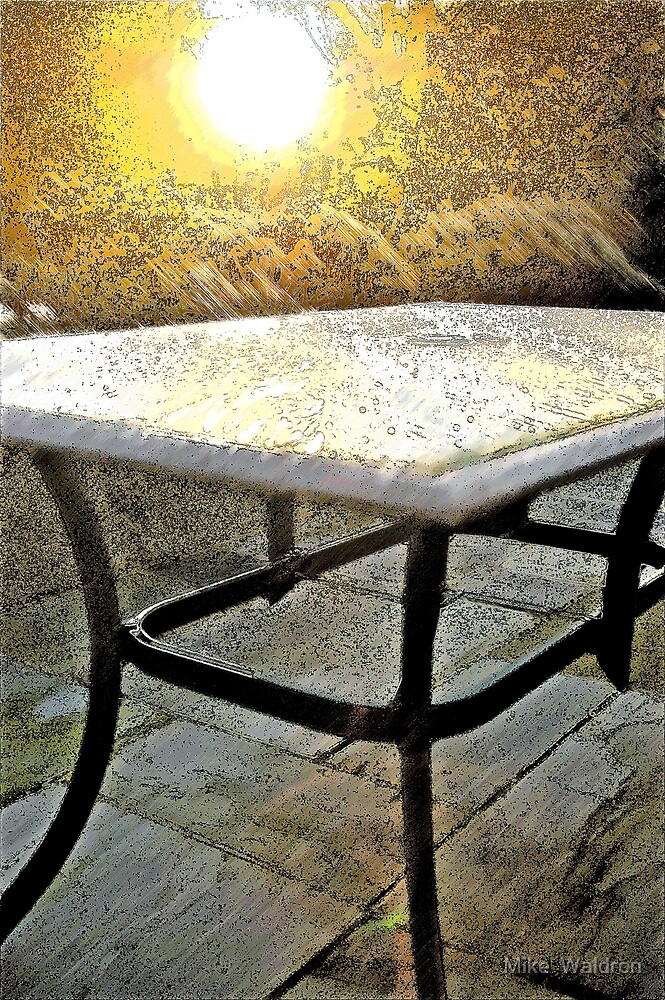 Winter Sun Rays on Frosted Table, 2. by Mike  Waldron