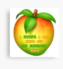 A wumpa a day keeps the mad scientist away Canvas Print