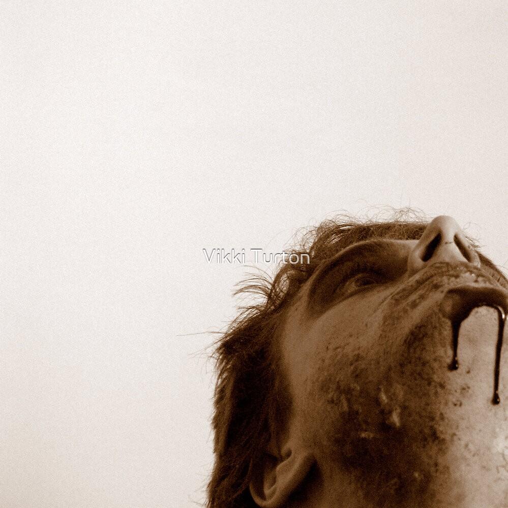 Zombie blood square. by Vikki Turton