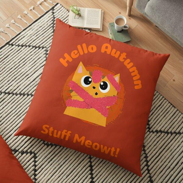 Hello Autumn Cat Floor Pillow