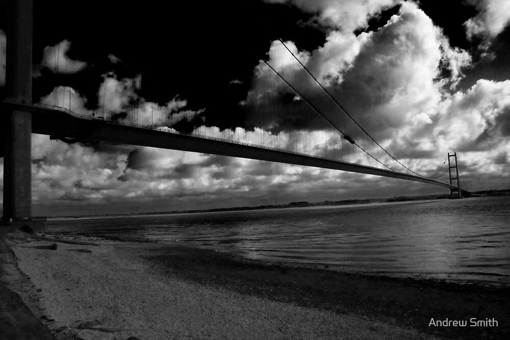 Dark Blue - Humber Bridge  by Andrew Smith