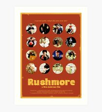 Rushmore featuring the many faces of Max Fischer Art Print