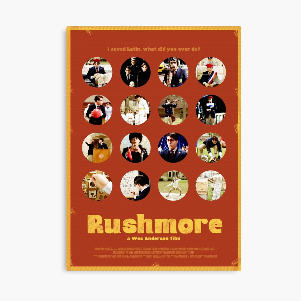 Rushmore featuring the many faces of Max Fischer Leinwanddruck