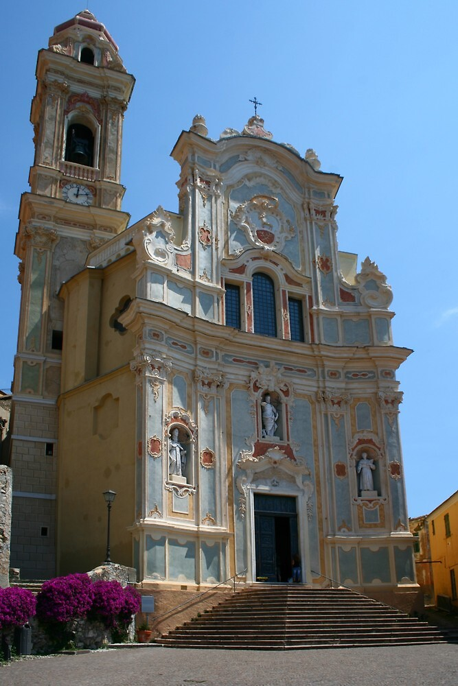 The curch of San Giovanni Battista Cervo Italy by Paul Pasco