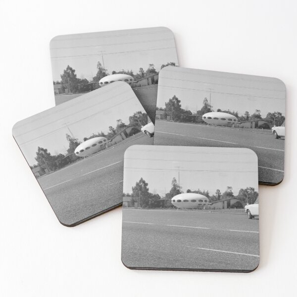 Photograph of Futuro House, Willetton in Western Australia 1975 State Library of Western Australia Coasters (Set of 4)