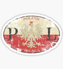 Poland Warsaw t shirt Sticker