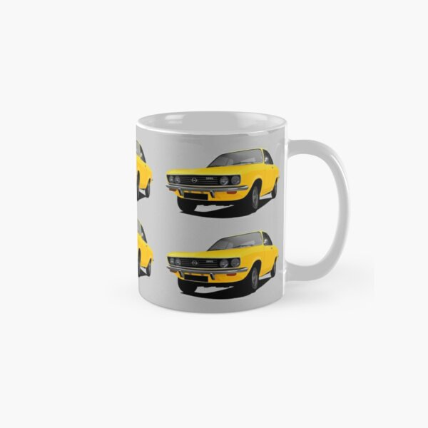 Yellow Opel Manta A - illustration Classic Mug