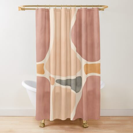 Pottery Shapes #redbubble #abstractart Shower Curtain
