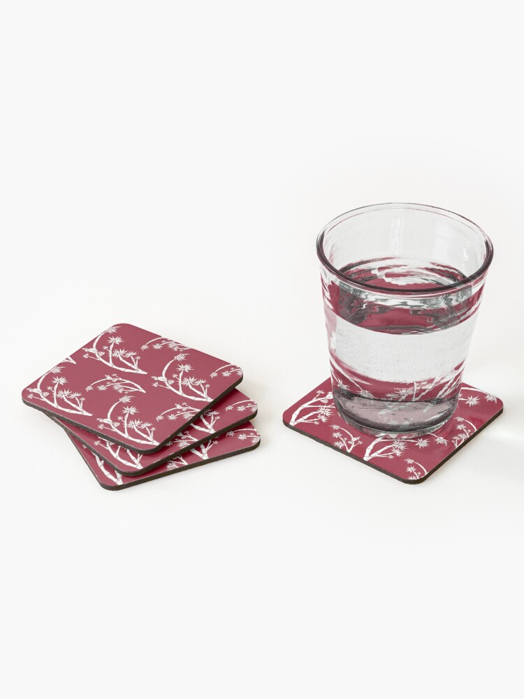 Alternate view of Oriental bamboo bird Coasters (Set of 4)