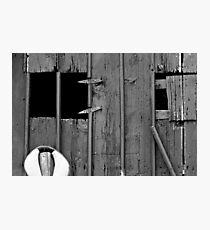 Old Barn Facade Photographic Print