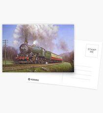 GWR King class 4.6.0 on Dainton bank. Postcards