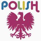 Retro 80's Style Polish Eagle t shirt by PolishArt