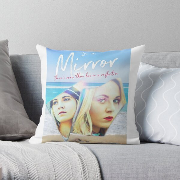 In A Mirror - Book Cover- Tote Throw Pillow