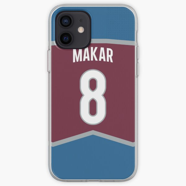 Colorado Avalanche Cale Makar Home Jersey Back Phone Case iPhone Soft Case