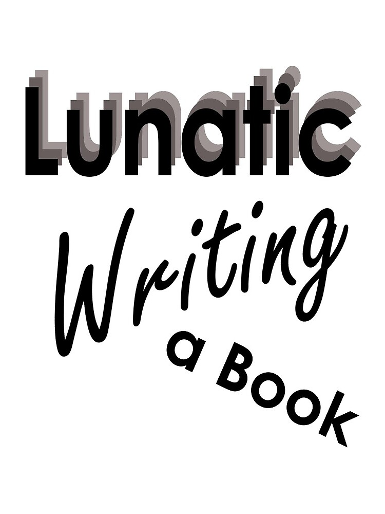 Lunatic Writing A Book - Drawstring Bag by embourne