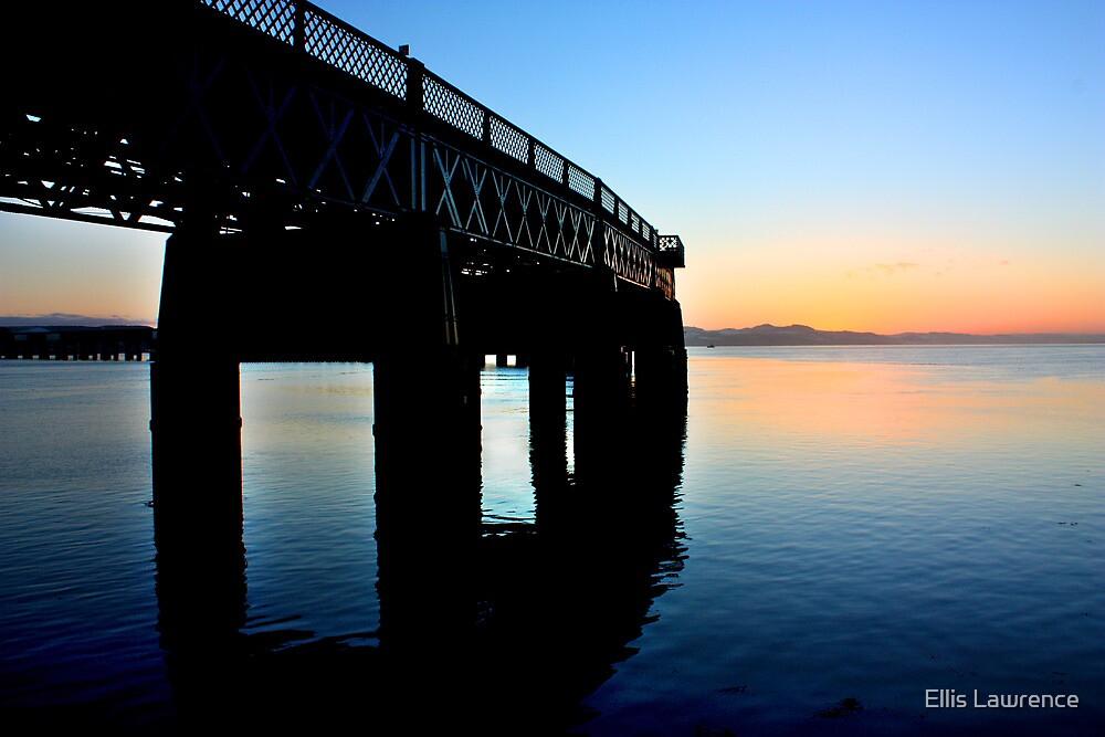 Tay Rail Bridge Sunset by Ellis Lawrence