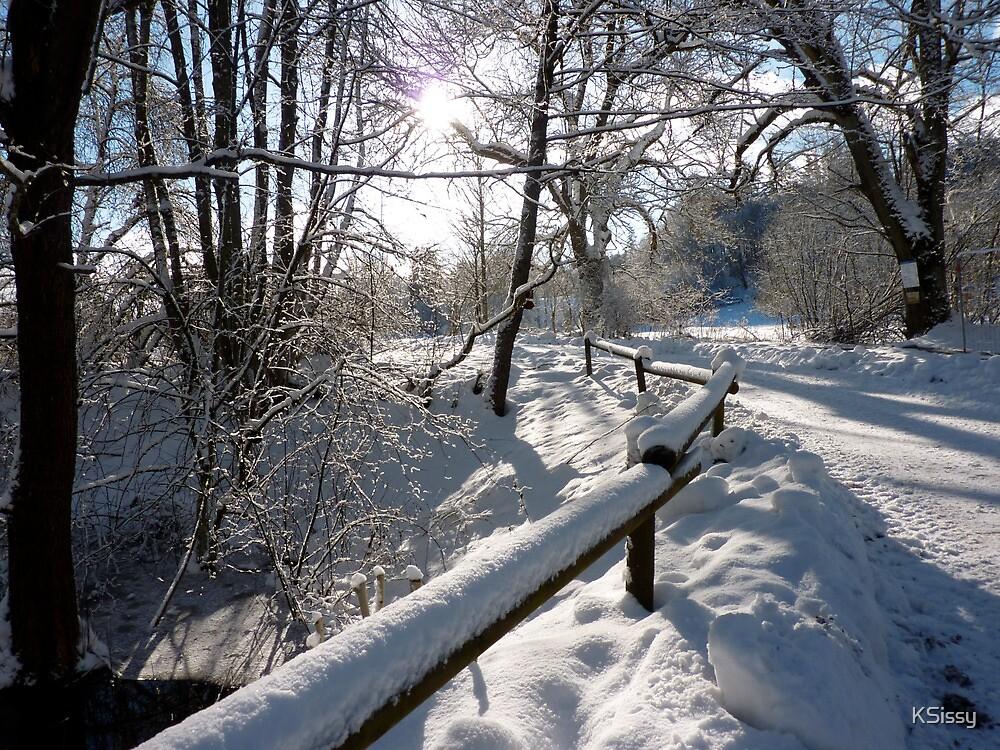 bridge in wintertime by KSissy