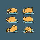 Pug Yoga for Better Sleep by Huebucket