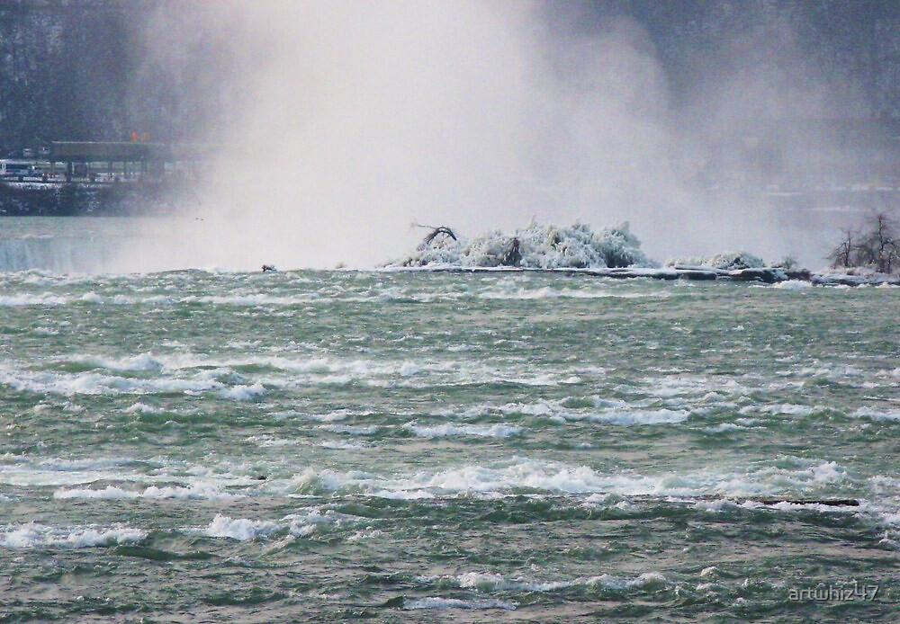 Frozen Niagara ~ Resisting The Plunge by artwhiz47