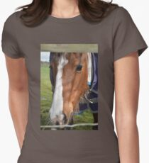 LOOKING THROUGH THE FENCE Women's Fitted T-Shirt