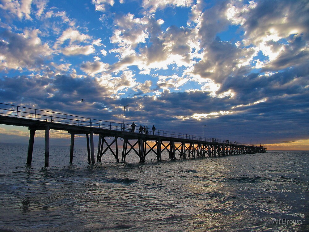 Port Noarluga Jetty, Adelaide by Alison  Brown
