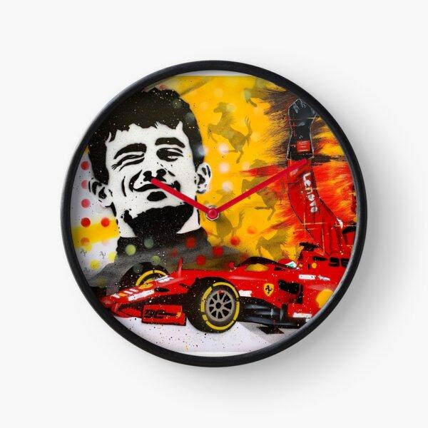 "Charles Leclerc ""Prima Vittoria"" graffiti painting by DRAutoArt Clock"