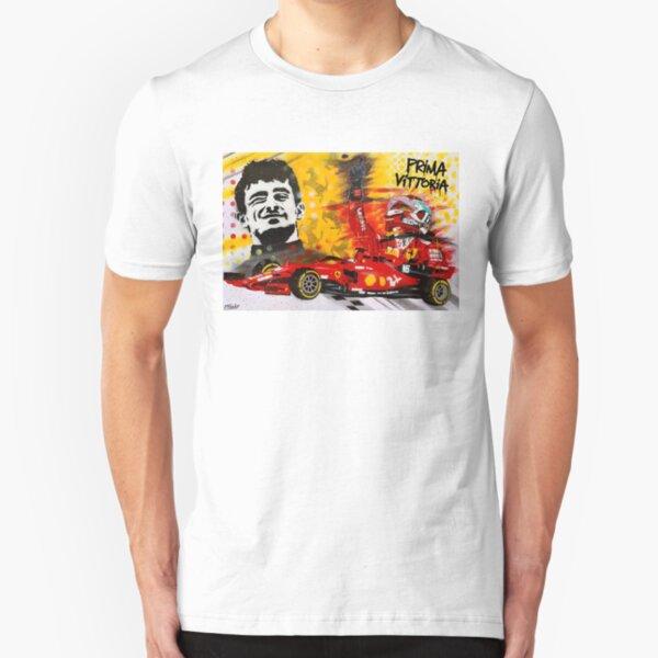 "Charles Leclerc ""Prima Vittoria"" graffiti painting by DRAutoArt Slim Fit T-Shirt"